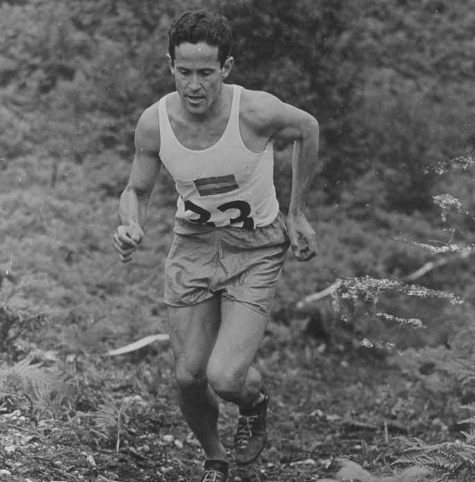 JO Londres 1948, Pentathlon Moderne, épreuve individuelle Hommes - William GRUT (SWE) 1e, à la course.