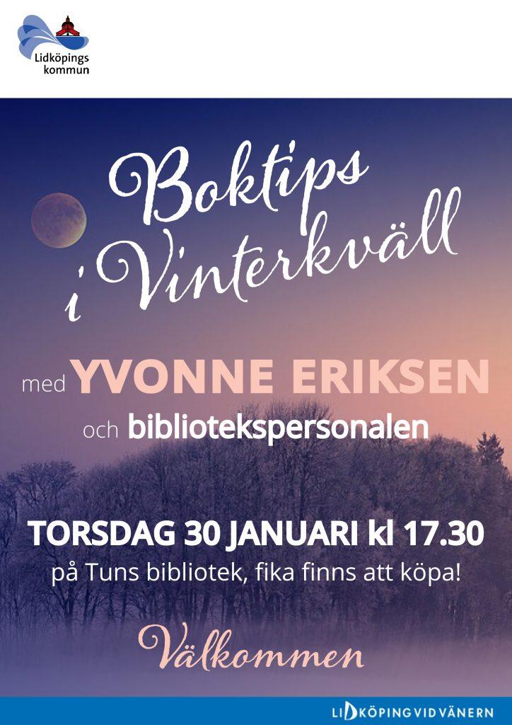BOKTIPSKVÄLL I TUN 30 JAN-1